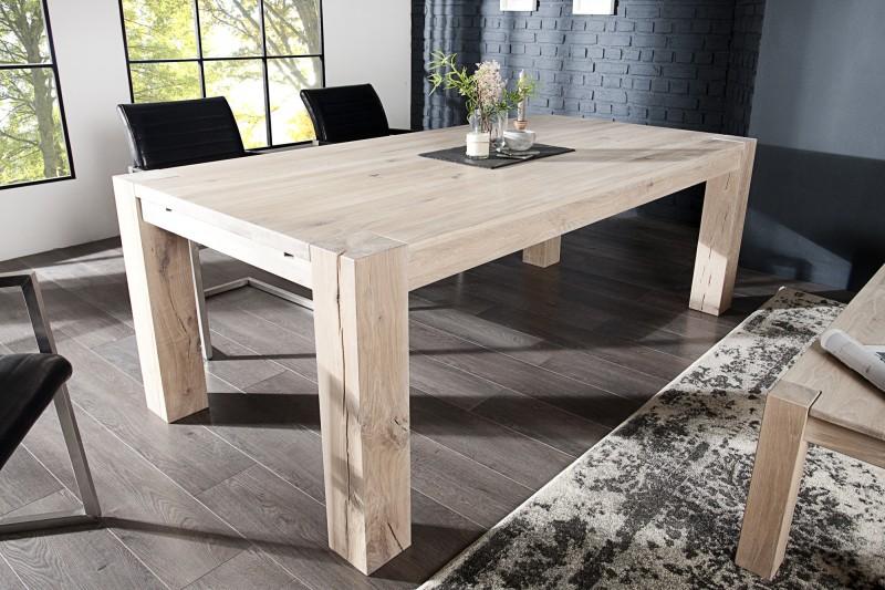 Jedálenský stôl Wild Oak 160cm dub biela olejované
