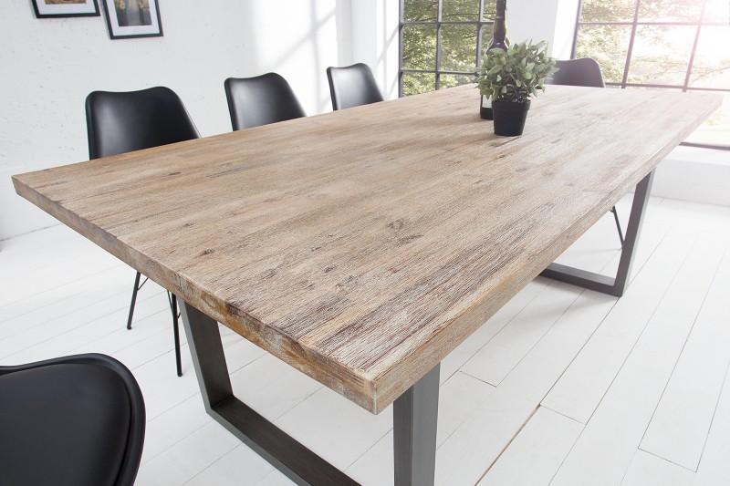 Jedálenský stôl Wotan 160cm agát Teak šedý