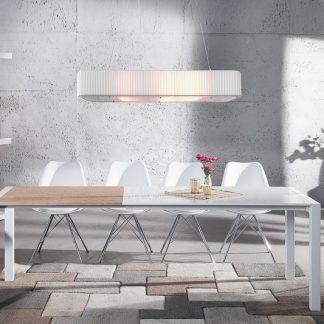 Jedálenský stôl X7 130-170-215cm biela - dub