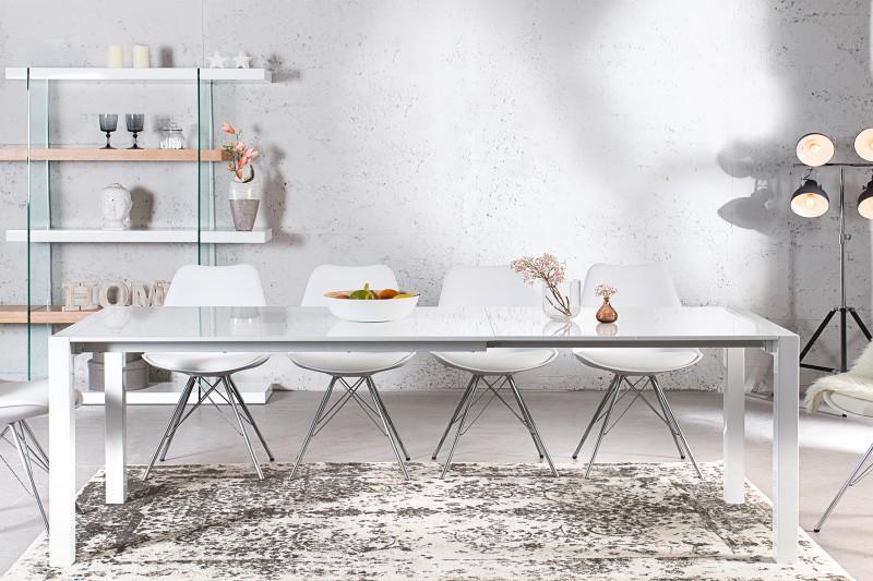 Jedálenský stôl X7 130-170-215cm biela
