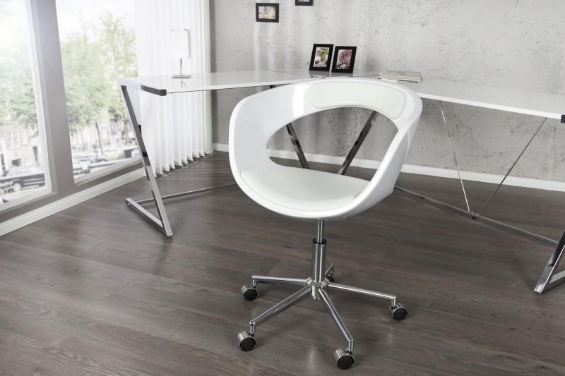 Kancelárska stolička Gambler biela