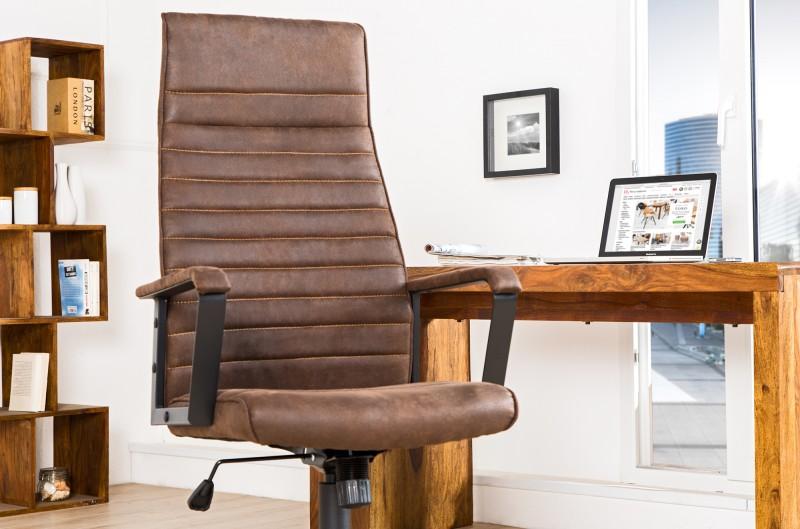 Kancelárska stolička Lazio High hnedá vintage