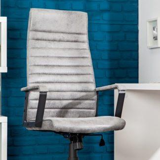 Kancelárska stolička Lazio High sivá vintage