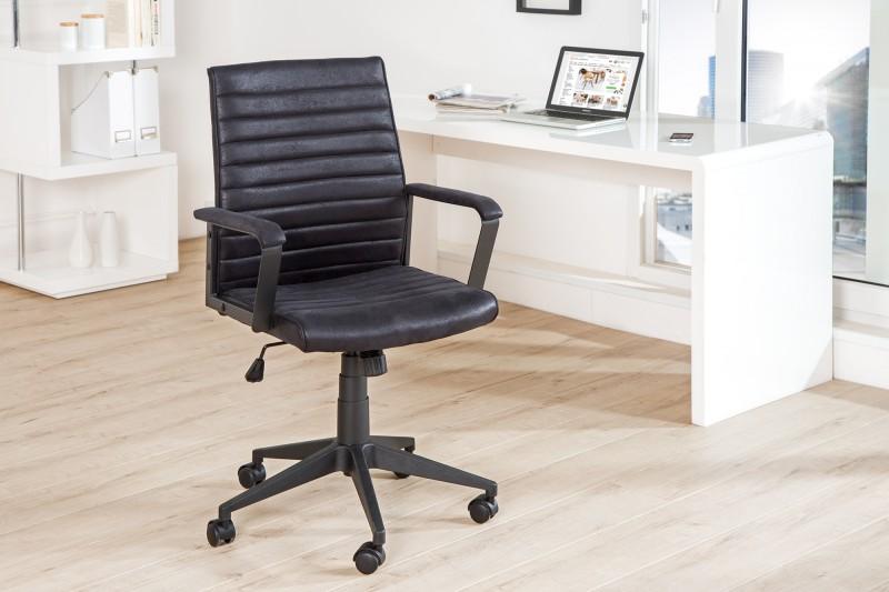 Kancelárska stolička Lazio čierna vintage