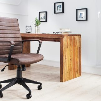 Kancelárska stolička Lazio hnedá vintage