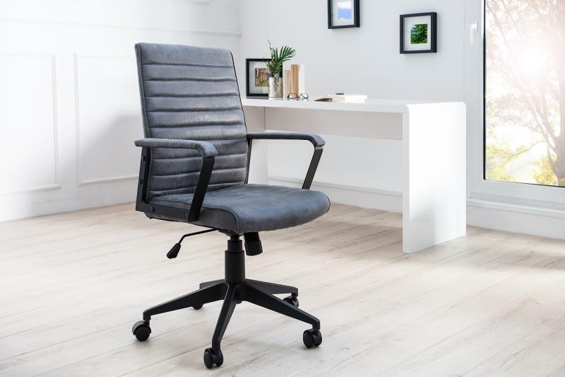 Kancelárska stolička Lazio sivá vintage
