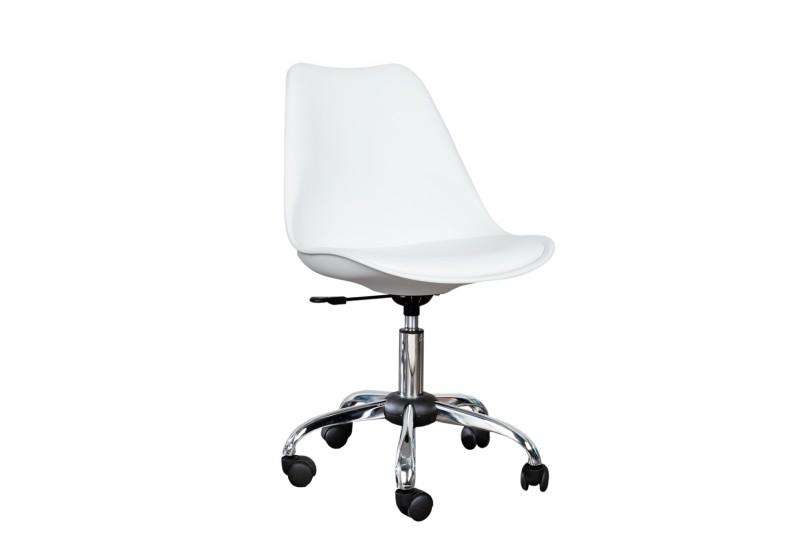 Kancelárska stolička Scandinavia biela