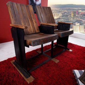 Kinositz Cinema 2-Sitzer - recyklované drevo