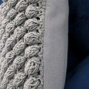 Kissen Cosy I 45cm sivá - Strick