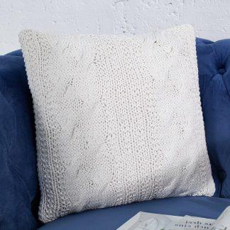 Kissen Cosy II 45cm biela - Strick