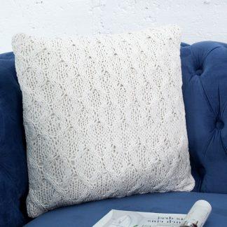 Kissen Cosy III 45cm biela - Strick