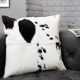 Kissen Rodeo 45x45cm čiernobiela kožušina