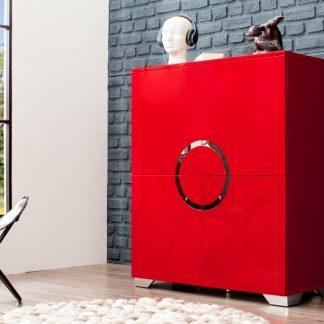 Komoda Zen 120cm červená