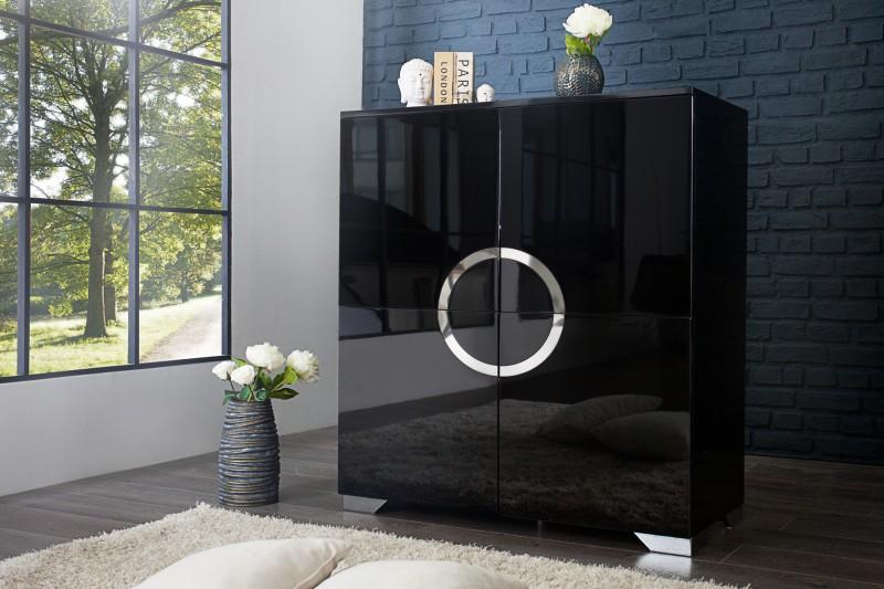Komoda Zen 120cm čierna