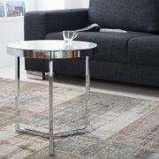 Konferenčný stolík Astro 50cm chróm biela