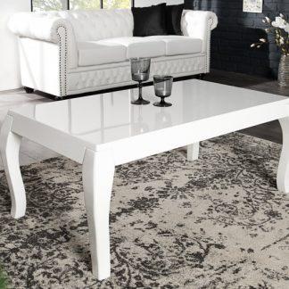 Konferenčný stolík Barocco 110cm biela