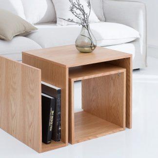 Konferenčný stolík Blocks set 2ks dub