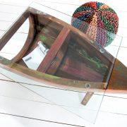 Konferenčný stolík Borneo m.sklo recyklát