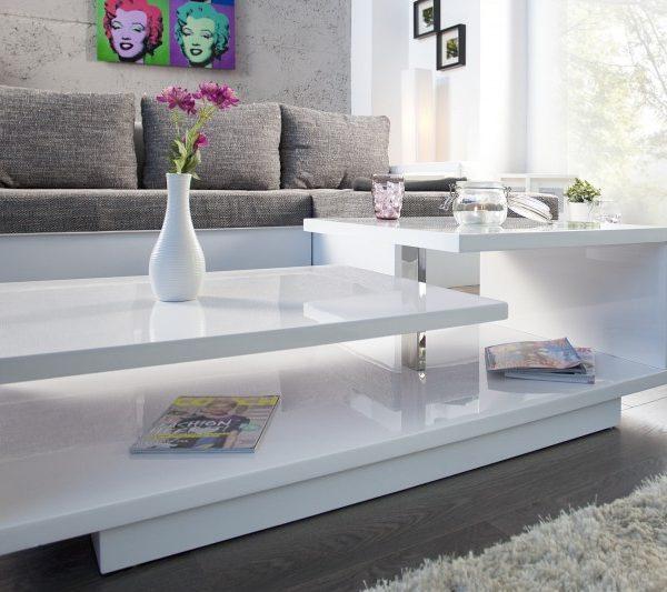 Konferenčný stolík Concept 100cm biela