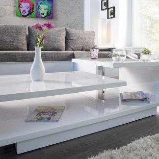 Konferenčný stolík Concept biela vysokolesklá
