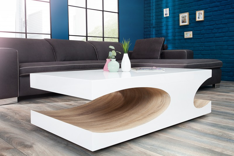 Konferenčný stolík Cube 120cm biela Sonoma