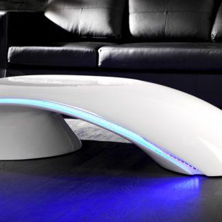 Konferenčný stolík Curve biela - / LED Beleuchtung