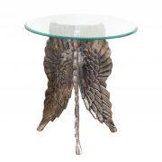 Konferenčný stolík Fallen Angel 65cm strieborná