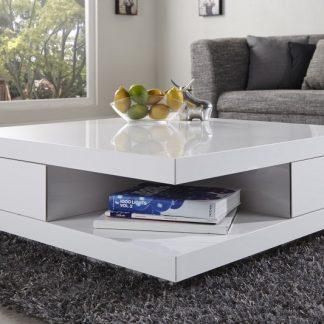 Konferenčný stolík Function biela / 2 Schubladen