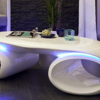 Konferenčný stolík Futura biela - mit LED Beleuchtung