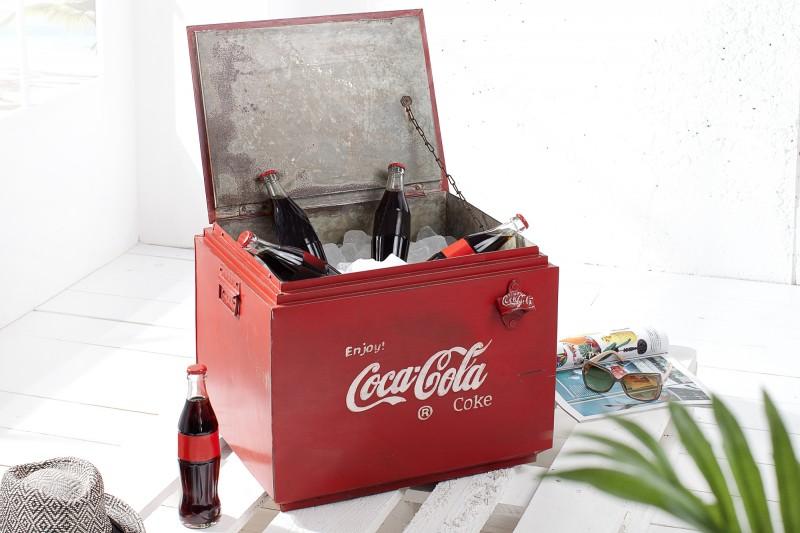 Konferenčný stolík Getränkebox 45cm červená