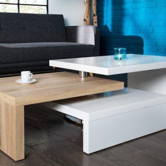 Konferenčný stolík Highclass biela Sonomia dub