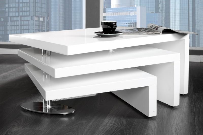 Konferenčný stolík Highclass biela