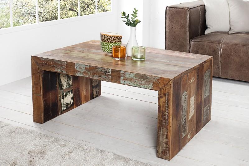 Konferenčný stolík Jakarta 100cm - recyklované drevo