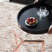Konferenčný stolík Modul 40cm čierna meď