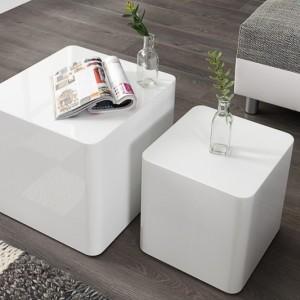 Konferenčný stolík Monobloc set 2ks biela