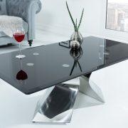 Konferenčný stolík Neo Barock 130cm čierna strieborná