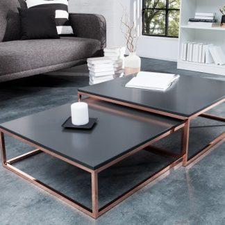 Konferenčný stolík New Fusion set 2ks antracit meď