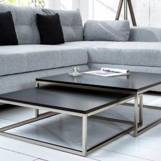 Konferenčný stolík New Fusion set 2ks čierna