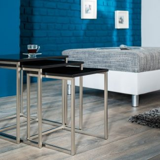 Konferenčný stolík New Fusion set 3ks čierna