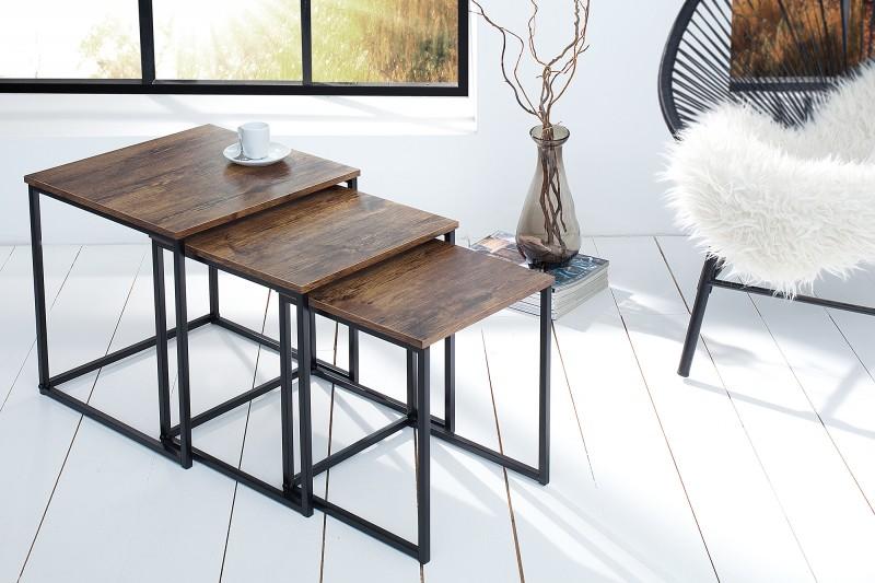 Konferenčný stolík New Fusion set 3ks vintage