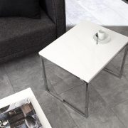 Konferenčný stolík Nobile set 2ks biela chróm