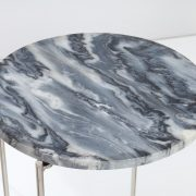 Konferenčný stolík Noble sivá mramor strieborná