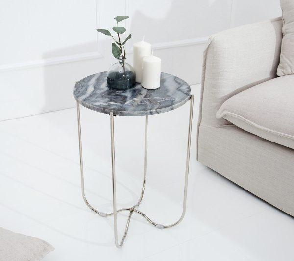 Konferenčný stolík Noble stolík (podnos) sivá mramor