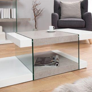 Konferenčný stolík Onyx 110cm biela betón