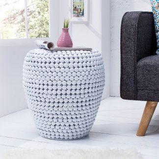 Konferenčný stolík Pearls 50cm biela
