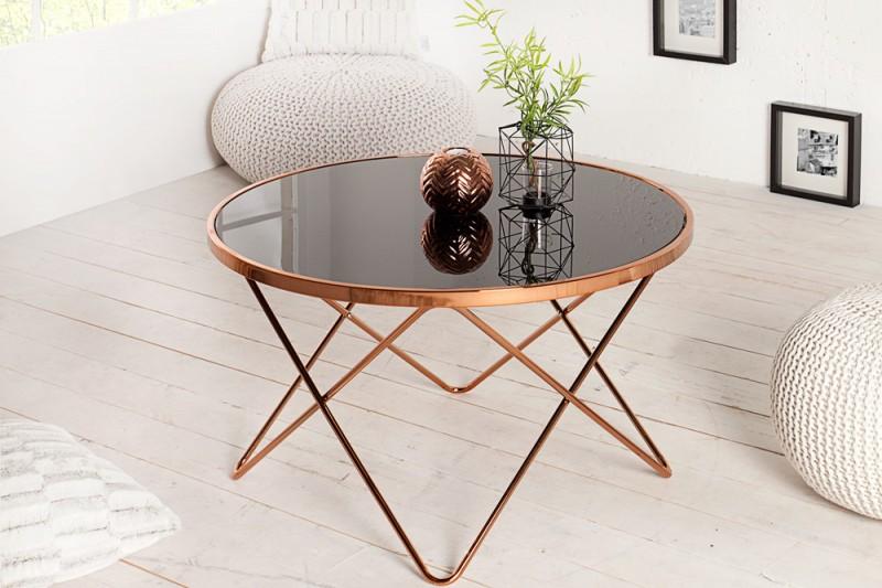 Konferenčný stolík Pont 85cm meď-čierna