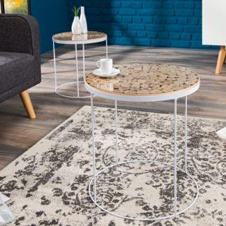 Konferenčný stolík Pure Nature Mix 50cm biela