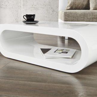 Konferenčný stolík Retro biela 90cm