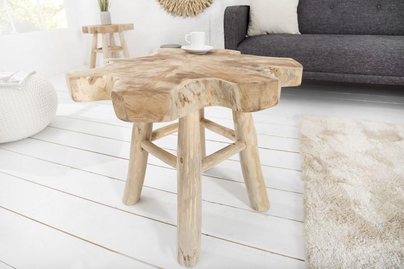 Konferenčný stolík Root 50cm teakové drevo
