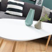 Konferenčný stolík Scandinavia 115cm biela Pinie